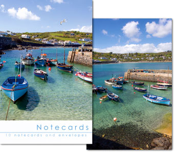 COVERACK HARBOUR NOTELETS PACK OF 10