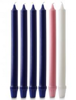 1 X 12 INCH FLUTED ADVENT CANDLE SET