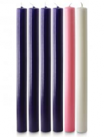 1 X 12 INCH ADVENT CANDLE SET