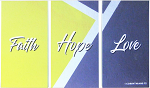 SET OF 3 WALL PLAQUES FAITH HOPE LOVE