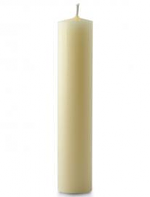 1 1/8  X 9 INCH IVORY BEESWAX CANDLE