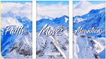 SET OF 3 WALL PLAQUES FAITH MOVES MOUNTAINS