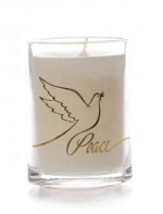 GLASS CANDLE PEACE DESIGN