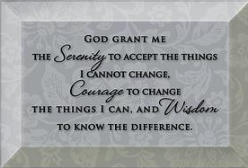 GRANT ME SERENITY GLASS PLAQUE