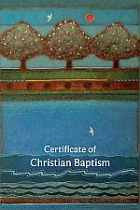 B20 CERTIFICATE OF CHRISTIAN BAPTISM PACK OF 20
