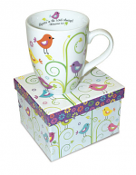 BIRDS AND PLANTS PHILIPPIANS 4:4 MUG