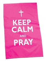 TEA TOWEL KEEP CALM AND PRAY