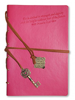 CLOTHED IN STRENGTH JOURNAL WITH WRAP & BOOKMARK