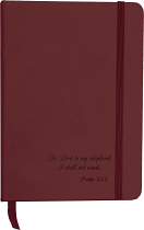 CHURCH NOTEBOOK PSALM 23:1 RED